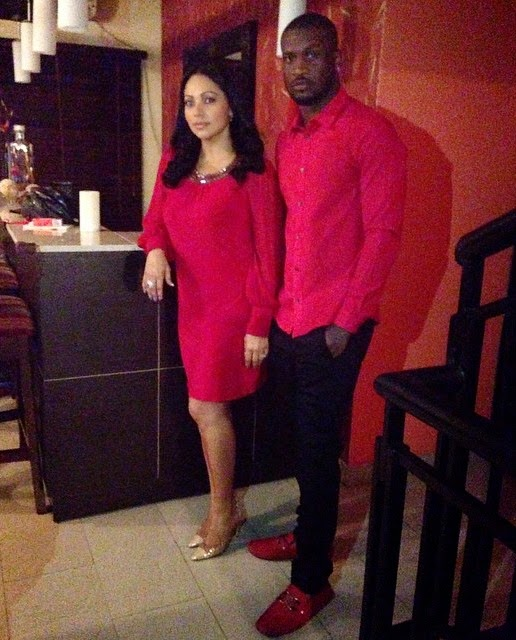 Keeping The Fire Burning! Peter And Lola Okoye Step Out In Matching Outfits