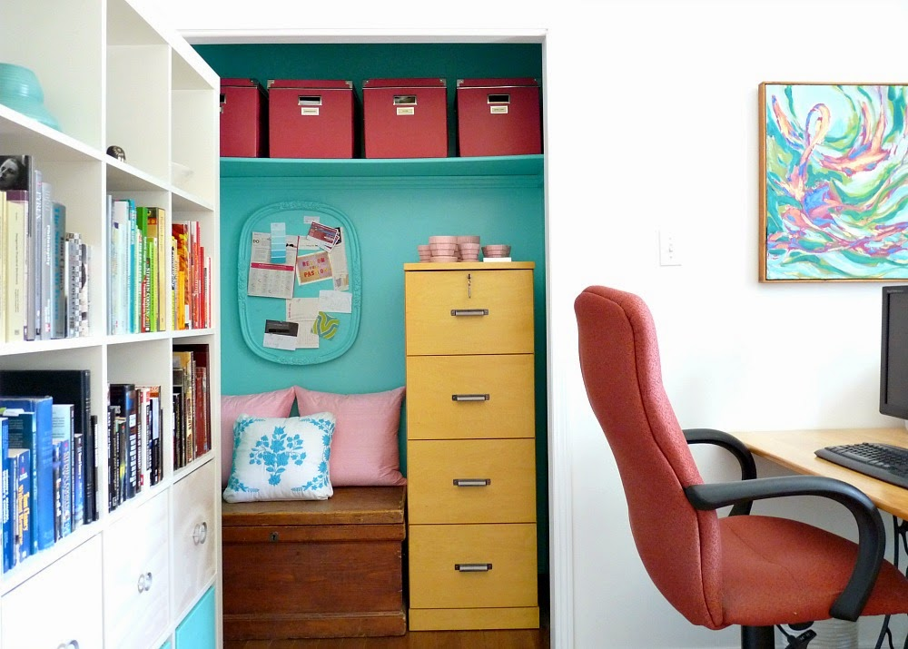 Office Closet Turned Nook