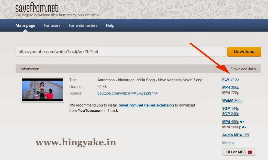 online video download from youtube