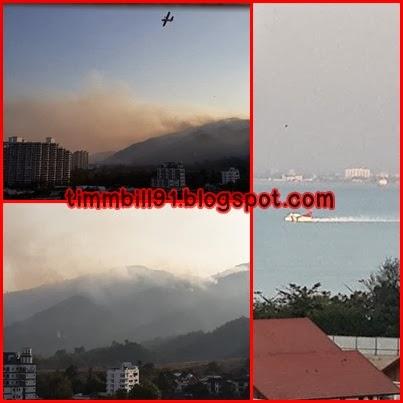 terbakar, Pulau Pinang