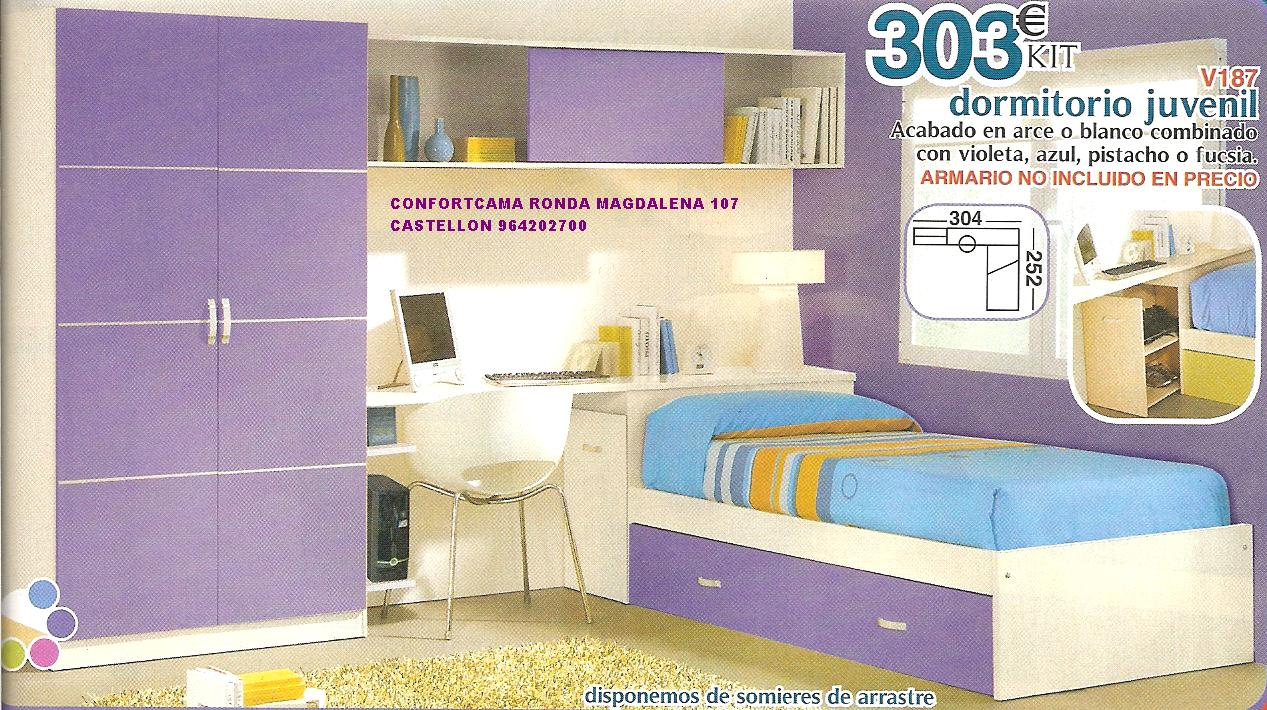 Muebles oferta kit dormitorios juveniles - Muebles en kit baratos ...