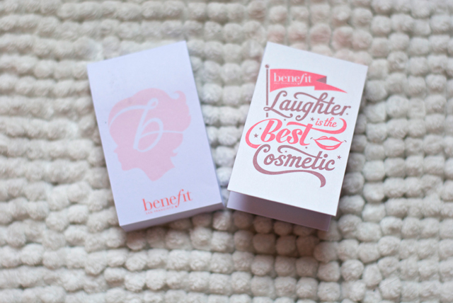 benefit candy-coated countdown Advent calendar stationary
