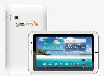 Pixcom AndroTab TriG,Spesifikasi, Harga Tablet, Android ICS,  1.2 Ghz Qualcomm Snapdragon, 3G