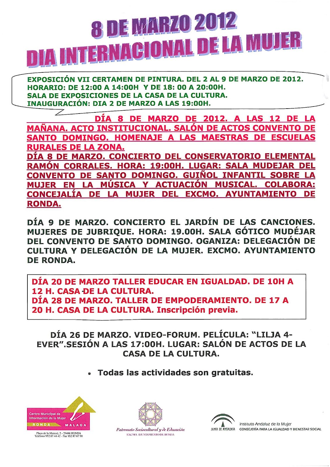 instituto andaluz dela mujer: