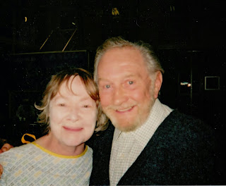 Daphne Neville with Roy Dotrice in 2005