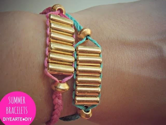 summer-friends-bracelet-diy-thread-diyearte-handmade-pulsera-hilo-verano-jewelry-homemade