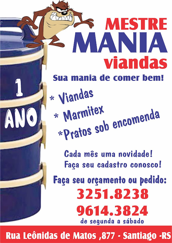 Mestre Mania Viandas!