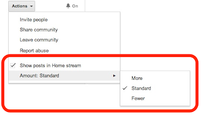 Google Plus Update: Community Posts Volume Adjustment
