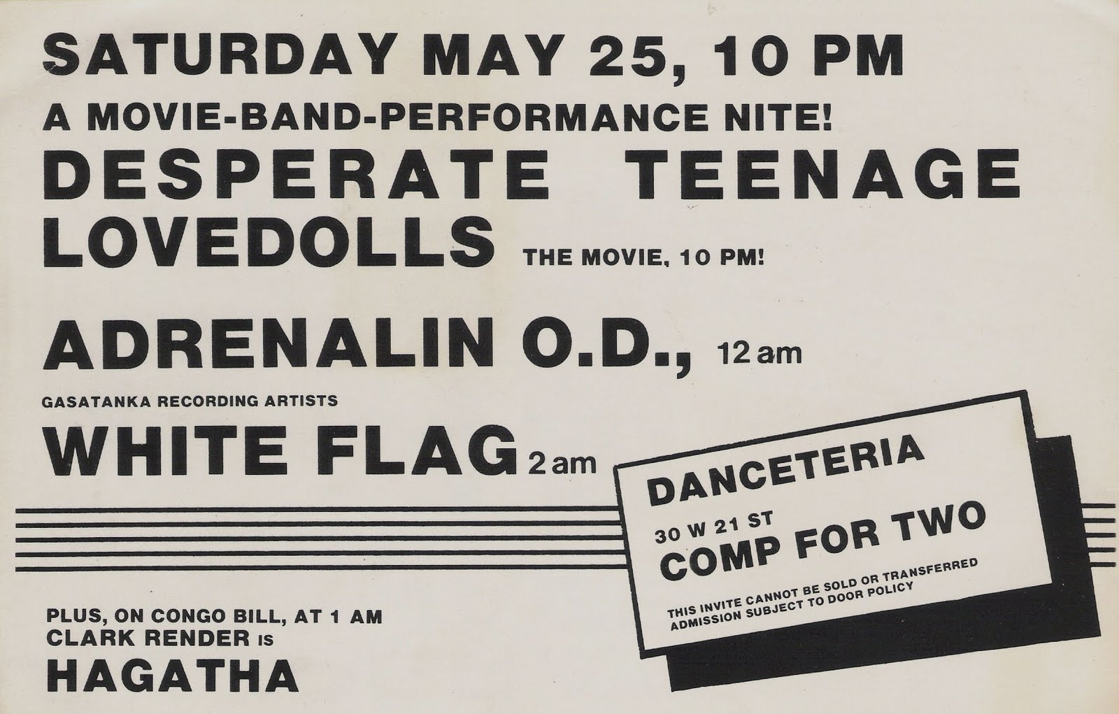... Adrenalin O.D. (aka AOD) and White Flag were powerhouse hardcore acts.