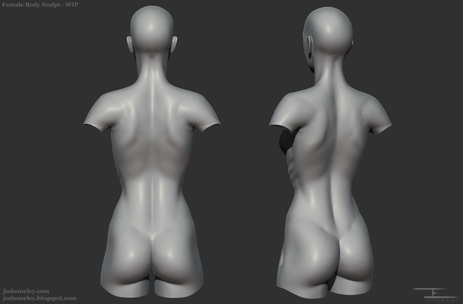 Judson Eley: Character Art: Female Anatomy Update: Torso (Back)