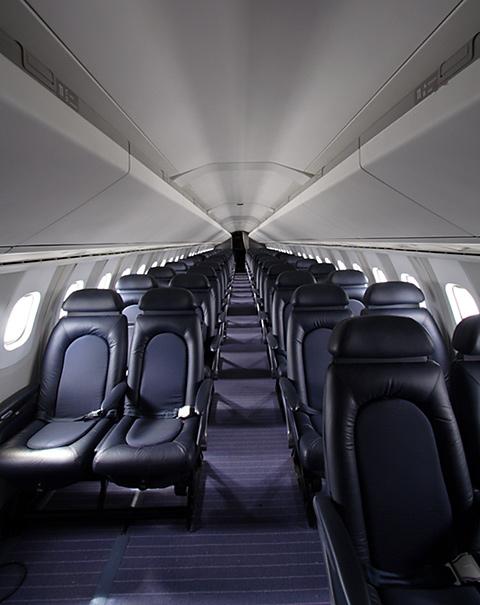 Jet airlines concorde plane interior for L interieur inside