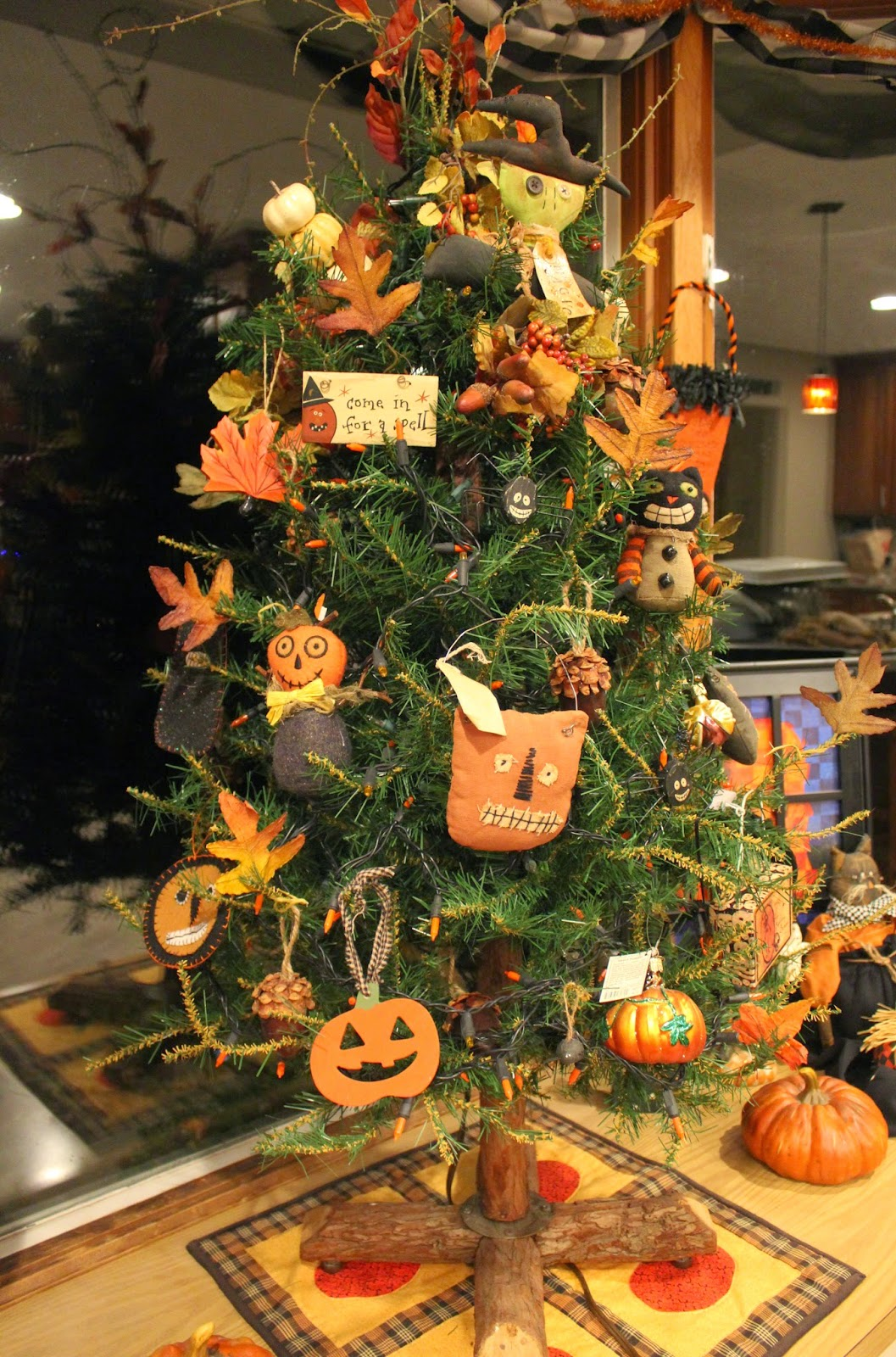 Decorated Halloween Trees