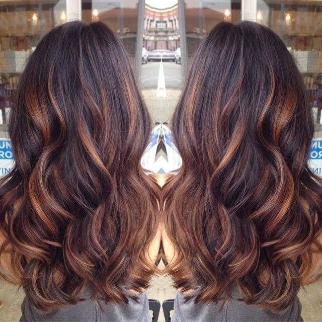 dark brown hair for brunette