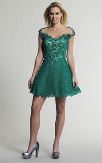 vestido de festa verde com bordados - looks e fotos
