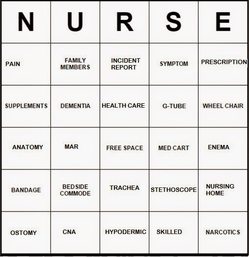 Life with Angeline: NURSE BINGO! (FREE TEMPLATES)