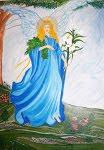 Νότα Κυμοθόη Αρχάγγελος Γαβριήλ Ελαιογραφία σε μουσαμά (ανήκει)