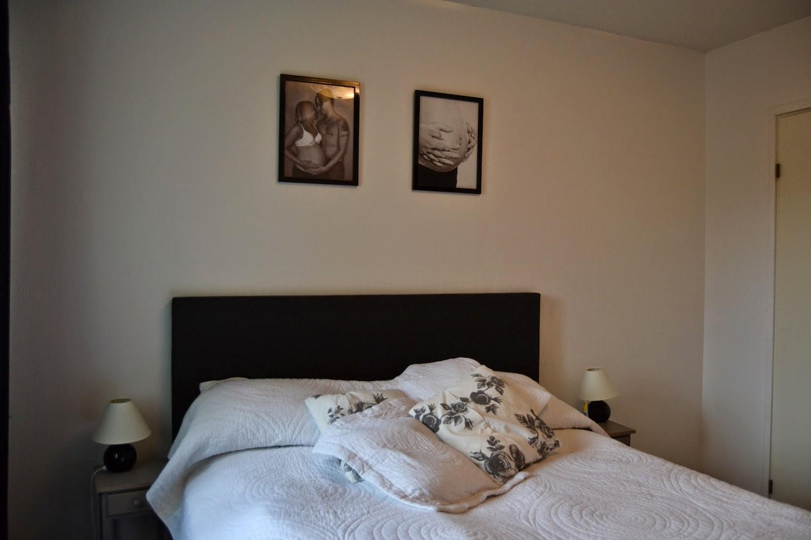 Therese och ett nytt liv: vårt sovrum