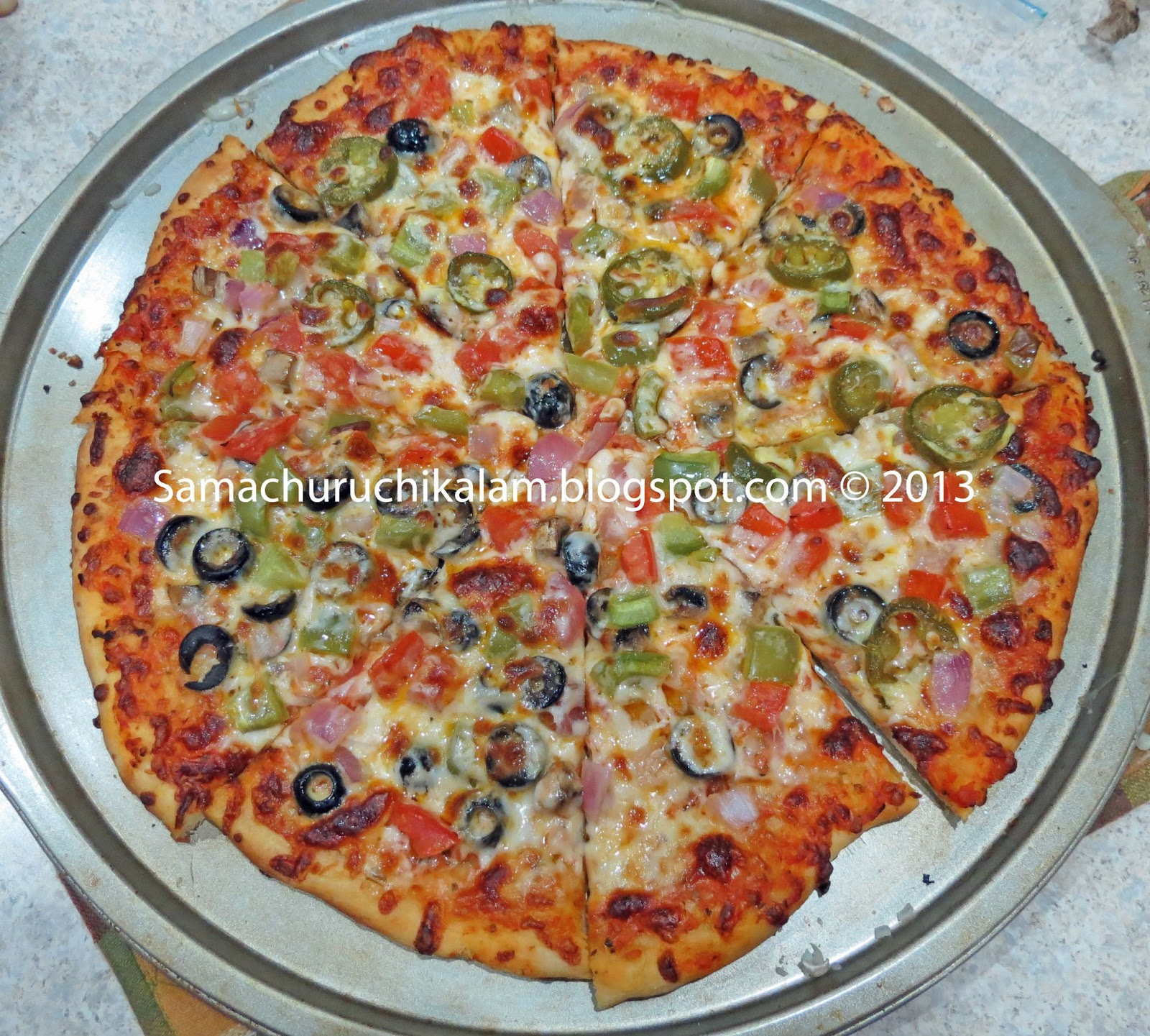 Recipes from Manju's kitchen: New York Style Pizza & Pizza Sauce