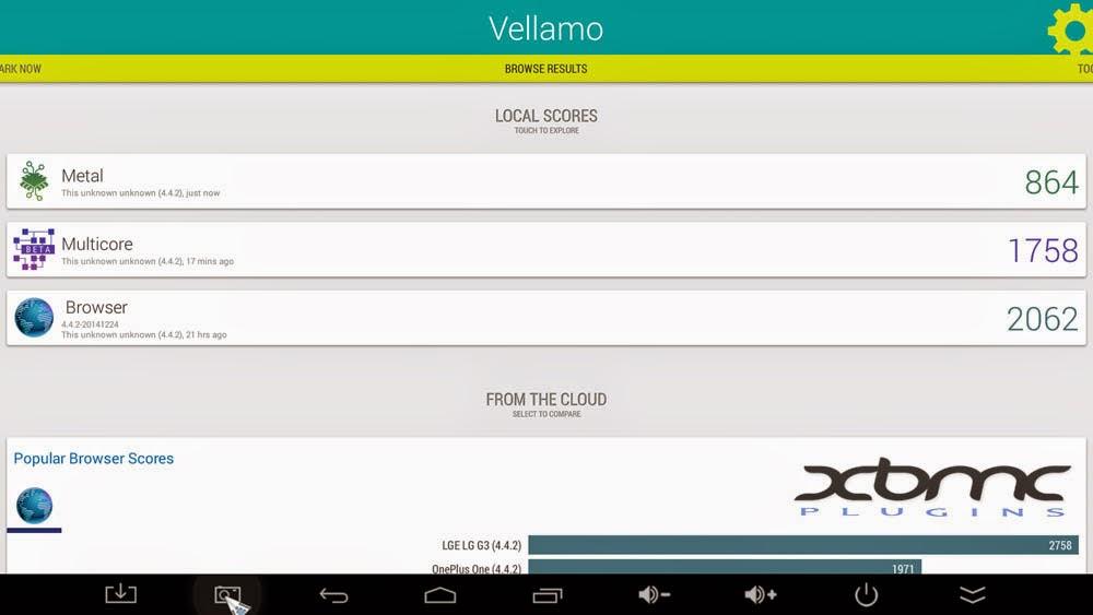 Benchmarks VELLAMO MINIX NEO X8 PLUS