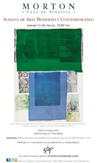 Subasta de Arte Moderno y Contemporáneo // Jueves 14 de Marzo