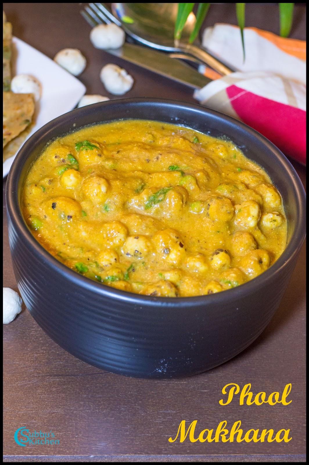 Phool Makhana Curry Recipe Lotus Seed Masala Recipe