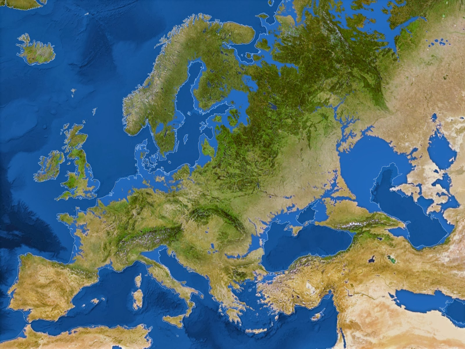 The anthroposea coastlines in an ice free world map of europe following a 216 foot sea level rise national geographic 2013 gumiabroncs