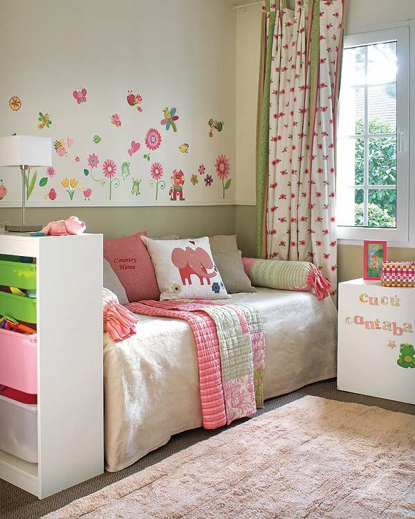 O quarto do beb como um jardim portal constru o blog - Decorar cama como sofa ...