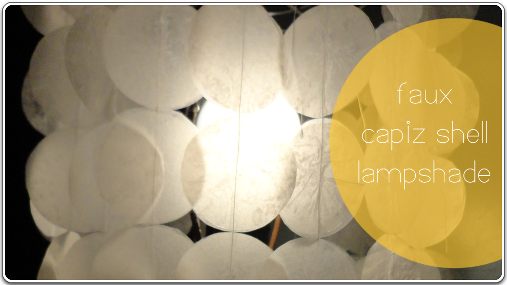 Faux Capiz Shell Lampshade