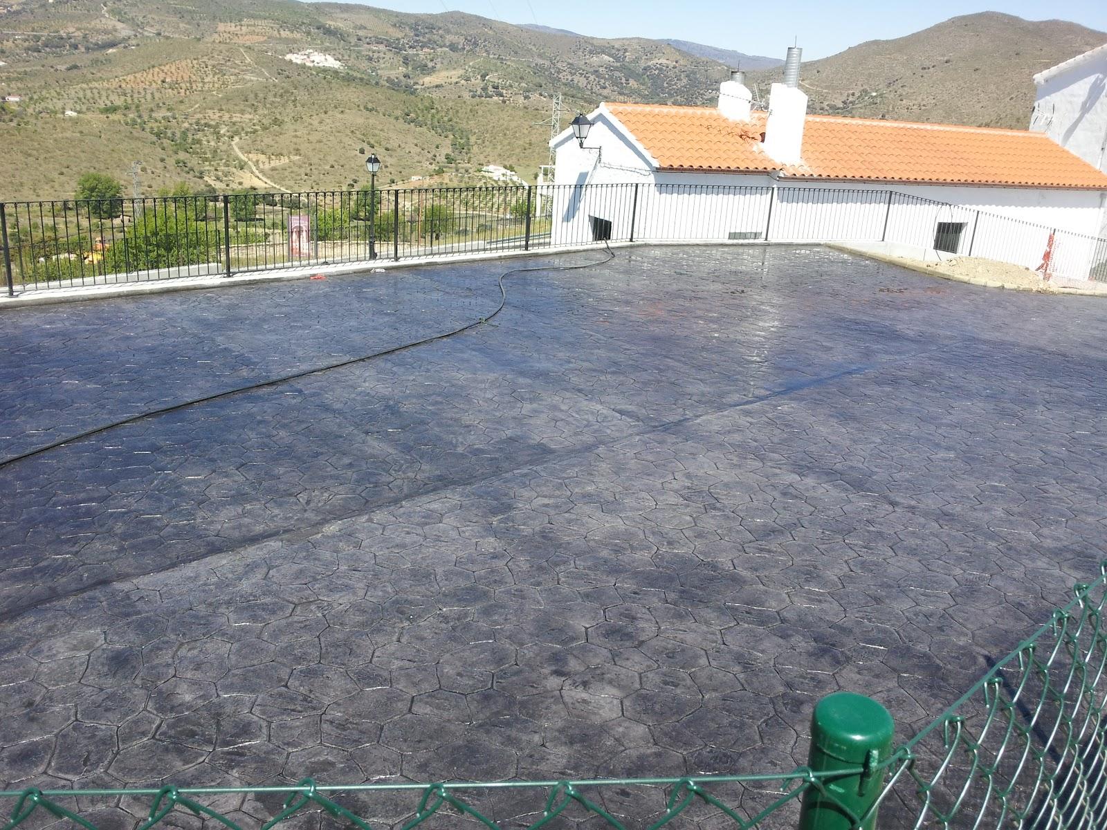 Antonio ballesteros hormig n impreso pavimento de for Hormigon impreso almeria