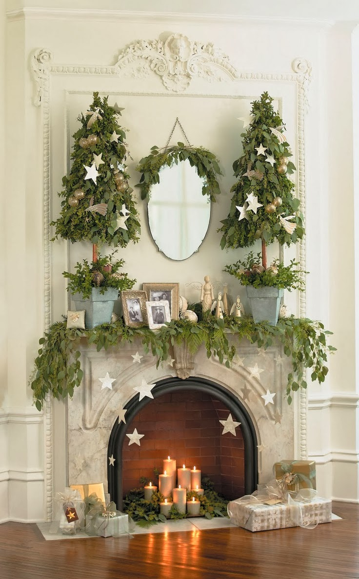 Cupcakes couture design inspiration christmas fireplaces for How to decorate a fireplace for christmas