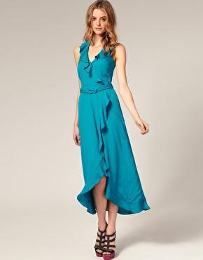 Ruffle Dress on Oasis Ruffle Halter Midi Dress   Asos   112 05