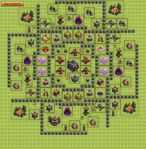 Clash of clans formasi base town hall 1 10 terbaik dan terkuat