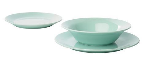 Ikea e momichan una tavola azzurra - Servizio piatti quadrati ikea ...