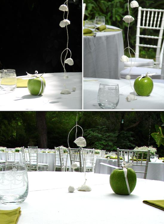 ghirlande di fiori di carta per matrimonio etico , colori bianco