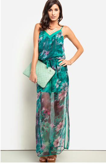 dailylook.com floral maxi dress