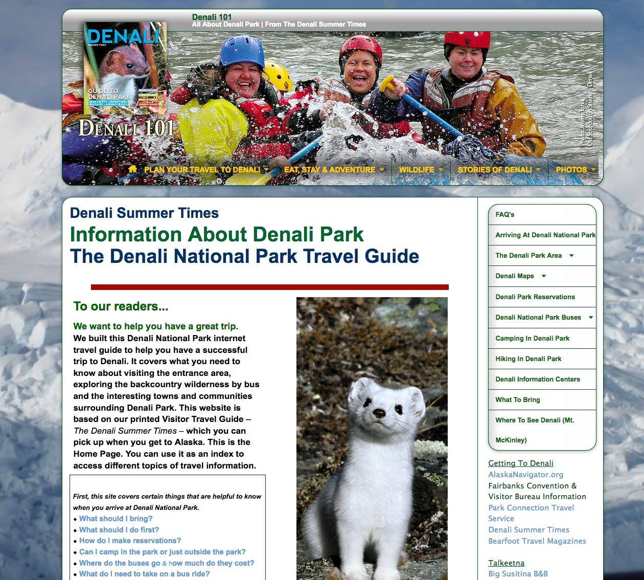 Denali Summer Times Site