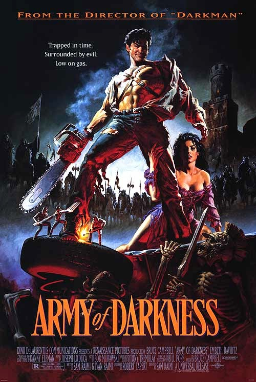 Army of Darkness 1992 bruce campbell sam raimi film poster