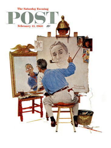 Norman Rockwell Saturday Evening Post Apr 24, 1937 Ticket Travel Man Complete