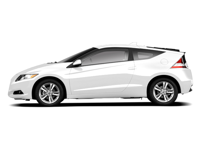 Side view of white 2011 Honda CR-Z Hybrid