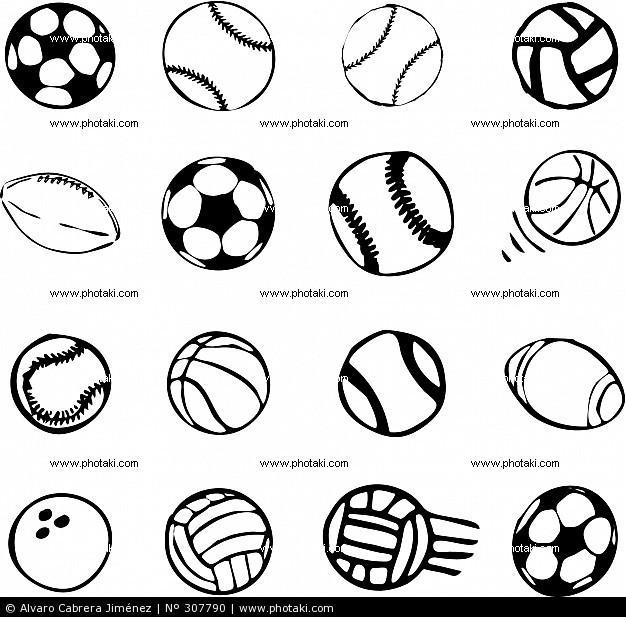 Balones De Diferentes Deportes Para Colorear   www.imagenesmy.com