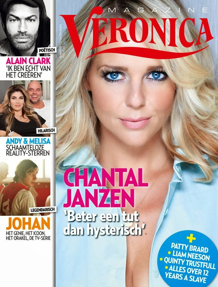 Chantal Janzen Photos from Veronica Netherlands Magazine Cover March 2014 HQ Scans
