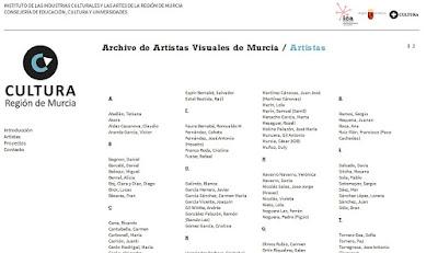 Archivo de Artistas Visuales de Murcia.
