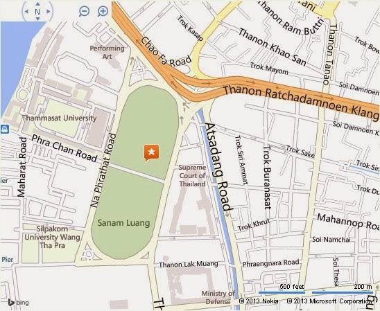 About BTS Bangkok Thailand Airport Map: Detail Sanam Luang Bangkok Location Map