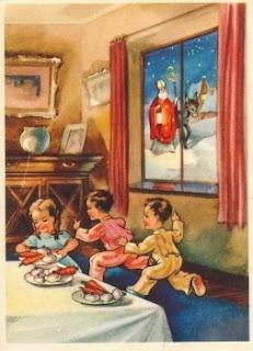 Autrefois, les enfants recevaient le jour de la Saint Nicolas, des fruits secs, pommes, oranges,