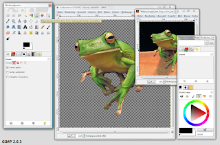 Gimp image selection tool screen shot