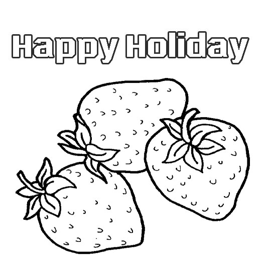 fruits coloring pages to kids