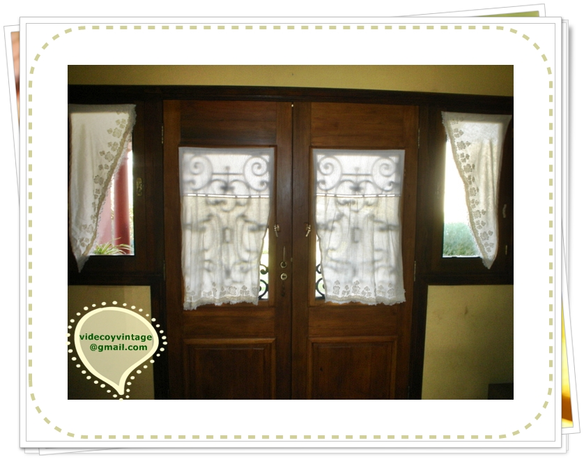 Videcoyvintage deco cortinas tipo visillos para puerta - Visillos para puertas ...