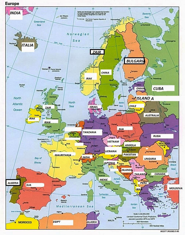 Noua harta a Europei