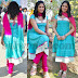 Hari Priya in Back neck Salwar