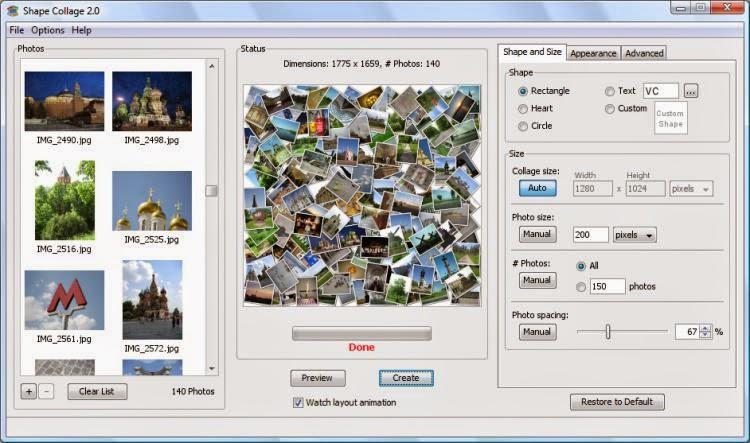 تحميل برنامج عمل تاثيرات على الصور Shape Collage 3.1 اصدار 2015